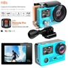 EKEN H8s 4K 30FPS FHD Ambarella A12S75 Wide-Angle 170 WiFi Control Dual Screen Black - intl