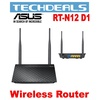 Asus RT-N12 D1 802.11n Wireless Router (4network port in 1: multiple SSID)
