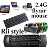 New Arrival Rii mini i25 i9 i8+ i12 i24 2.4G fly air mouse wireless keyboard remote Microphone IR Learning for Android TV Box Mini Tablet PC