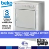 BEKO 7KG FRONT LOAD AIR VENTED TUMBLE DRYER * DRV73W * STEEL DRUM * 3 YRS WARRANTY * MADE IN EUROPE