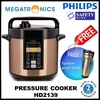 [FREE TUMBLER]Philips Viva Collection Electric Pressure Cooker (6L) - HD2139/62