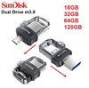Sandisk Ultra Dual USB Drive m3.0 OTG Faster Transfer for Android to Computer PC