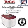 ★ Tefal RK8145 1.8L Spherical Pot Rice Cooker ★ (2 Years Warranty)