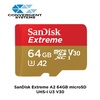 SanDisk Extreme A2 64GB microSDXC UHS-I U3 V30 (Up to 160MB/s Read) Memory Card SDSQXA2