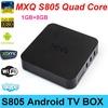 SG 2015 New MXQ TV BOX MX Amlogic S805 Quad Core IPTV Android 4.4 TV box Kitkat 4K 1GB/8GB XBMC WIFI