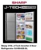 Sharp 315L J-Tech Inverter 2 Door Refrigerator SJ-RX42E-SL