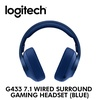 [Logitech] G433 7.1 Wired Surround Gaming Headset (Blue) / with 2 year warranty