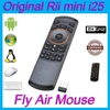 Original Rii i25 K25 2.4G Fly Air Mouse Wireless Gaming Russian RU Keyboard Combos IR learning Remot