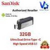 SanDisk Ultra 32GB 150MB/s Dual Drive USB Type-C for Android Smartphone & Tablets (ORIGINAL)