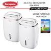 EuropAce 3-in-1 Dehumidifier 25L with Air Purifier and Laundry Mode (EDH-6251S) / 5 YEARS WARRANTY