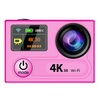 2016 Latest EKEN H8 Mini Sport DV HD 1080P Helmet Camcorder WifiWaterproof 2.4G Remote Control 4K Action Camera (Pink) - intl