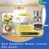 【Powerpac】Bear DSL-A02Z1 5-in-1 Breakfast Master Toaster With Non-Stick Frying Pan