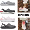 Crocs_literide_hot sale ผู้หญิงผู้ชายลื่นรองเท้ากีฬาระบายอากาศ 36-45