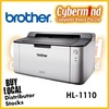 Brother HL-1110 Single Function Mono Laser Printer (Local Brother Singapore Direct warranty : 3years+2years carry in to Brother SG)