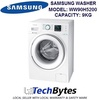SAMSUNG 9KG FRONT LOAD WASHING MACHINE *MODEL: WW90H5200EW *Crystal White Design *Eco Bubble™ Technology *Stain Away *Digital Inverter Motor *1 YEAR SAMSUNG WARRANTY