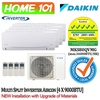 Daikin Multi Split Smile Series Aircon [System 4] Avaliable in MKS80QVMG [CTKS25 (1 HP) x 4] WITH *New Installation with Upgraded Materials Services*