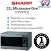 ★ Sharp R299T(S) 22L Microwave Oven ★ (1 Year Singapore Warranty)