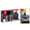 Nintendo Switch Console Neon Blue&Red With Zelda Combo Offer