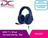 Logitech G433 7.1 Wired Surround Gaming Headset - Blue