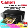 Canon PIXMA MG3670 Printer  Wireless Photo All-In-One with Duplex and Cloud Printing