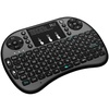Rii i8+ Mini Wireless 2.4G Back Light Touchpad Keyboard with Mouse for PC/Mac/Android (Black)