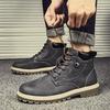 รองเท้าผู้ชาย✾❣Autumn man Martin boots male high help British han edition shoes joker waterproof winter tooling for men