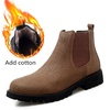 BOOT FOR Men West Boots Leather British Style Martin Boots High To Help Retro Boots Winter Boots