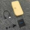 QCY Q26 mono earphone English voice business headset wireless bluetooth headphone mini invisible calls earbud with mic  Camel