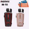 Remax RB T12 Bluetooth Earphone Retractable Cable Headset Collar Clip on Earphone RB-T12