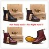 โค้ด GIFT ลด 30% ลด 30%รองเท้าบุรุษMen/Women Fashion Martin Boots British High Top Hot Dr.Martens Sh