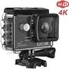 4K Action Camera, SJCAM SJ5000X Elite Waterproof WiFi Underwater Camera- 4k@24FPS 12MP Sony Sensor/Gyro Stabilization/2.0 LCD Screen (Waterproof Case & Accessories Included)- Black
