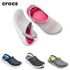 Crocs_Literide_Clog สีชมพู/สีเทาโรงแรมผู้หญิงผู้ชายอินเทรนด์รองเท้าแตะกลางแจ้ง 36-45