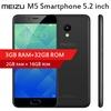 ★Meizu M5 Smartphone★2GB+16GB / 3GB+32GB★5.2inch★mTouch 2.1 Fingerprint★4G LTE★2.5D Glass★MT6750 Oct
