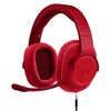 Logitech G433 Red 7.1 Wired Surround Sound Gaming Headset (Two-Year Local Singapore Warranty)