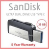 Sandisk 32GB Ultra Dual Drive USB Type C - USB3.1 with 5 Years Warranty 32 gb