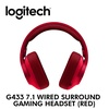 [Logitech] G433 7.1 Wired Gaming Headset (Red) / with 2 year warranty