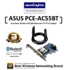 ASUS PCE-AC55BT Dual-Band Wireless-AC1200 Bluetooth 4.0 PCI-E Adapter - 3 Year Distributor Warrant