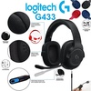 Logitech G433 7.1 Wired Surround Gaming Headset Black Blue Red warranty by SG Logitech