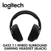[Logitech] G433 7.1 Wired Surround Gaming Headset (Black) / with 2 year warranty