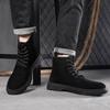 蜻蜓 brand leather autumn and winter Martin boots men's high help wolf army boots tide shoes tooling shoes in the middle t