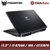 """Acer Predator Helios 500 (PH517-51-79TX) - 17.3"""" FHD/i7-8750H/16GB DDR4/256GB SSD+1TB HDD/Nvidia GTX1070/W10 (Black)"""