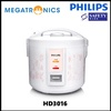 PHILIPS Daily Collection Rice Cooker HD3016/62(2 years warranty by Philips)/Porridge/Brown Rice/cook
