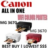 Canon PIXMA MG3670 Wireless All-in-One Color Inkjet Multifunction Printer(WiFi+Print+Scan+Copy)