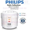 ★ Philips HD3016/62 Daily Collection Rice Cooker 1.5L ★ (2 Years World-Wide Warranty)