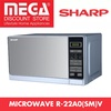 SHARP R-22A0(SM)V 20L TOUCH CONTROL MICROWAVE OVEN / LOCAL WARRANTY