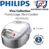 ★ Philips HD3031/62 Viva Collection Fuzzy Logic Rice Cooker 1.0L ★ (2 Years World-Wide Warranty)