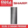 SHARP SJ-RX42E-SL 315L 2 DOOR FRIDGE / LOCAL WARRANTY