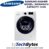 SAMSUNG 9KG FRONT LOAD WASHING MACHINE *MODEL: WW90K6410QW/SP *Undeniable Washing Performance with EcoBubble™ Tech *Powerful Cleaning with Speed Spray *Simply Add During Wash *1 YEAR SAMSUNG WARRANTY