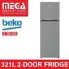 BEKO RDNT360I50VZX 321L 2-DOOR FRIDGE