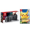 Nintendo Switch Console Gray With Pikachu let's go Combo Offer